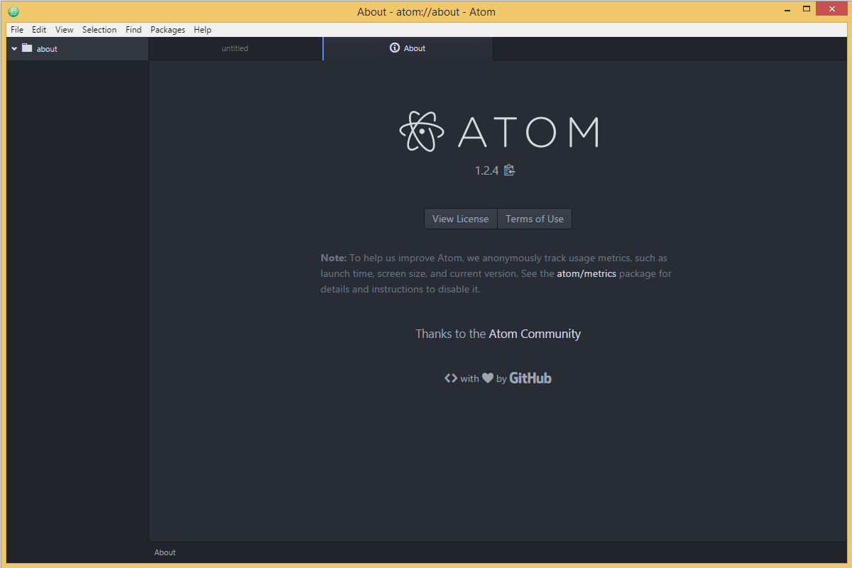 Atom's screenshot