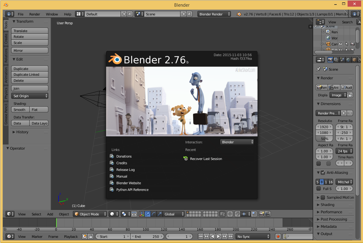 Blender's screenshot