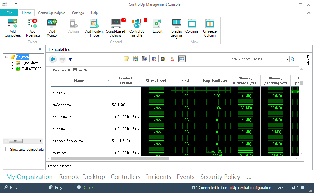 ControlUp Console's screenshot
