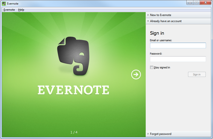 Evernote's screenshot