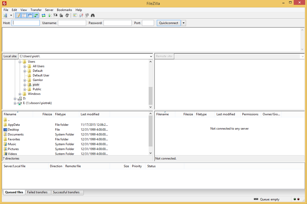 FileZilla's screenshot
