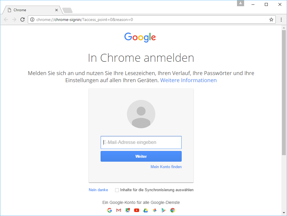 Chrome German's screenshot