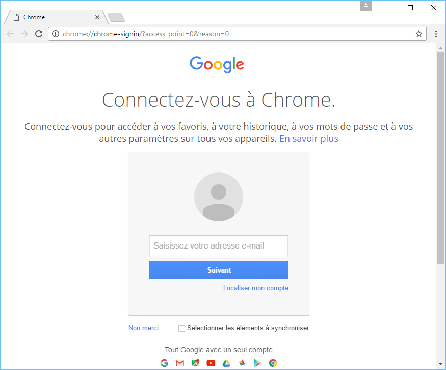 Chrome French's screenshot