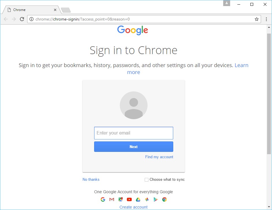 Chrome's screenshot