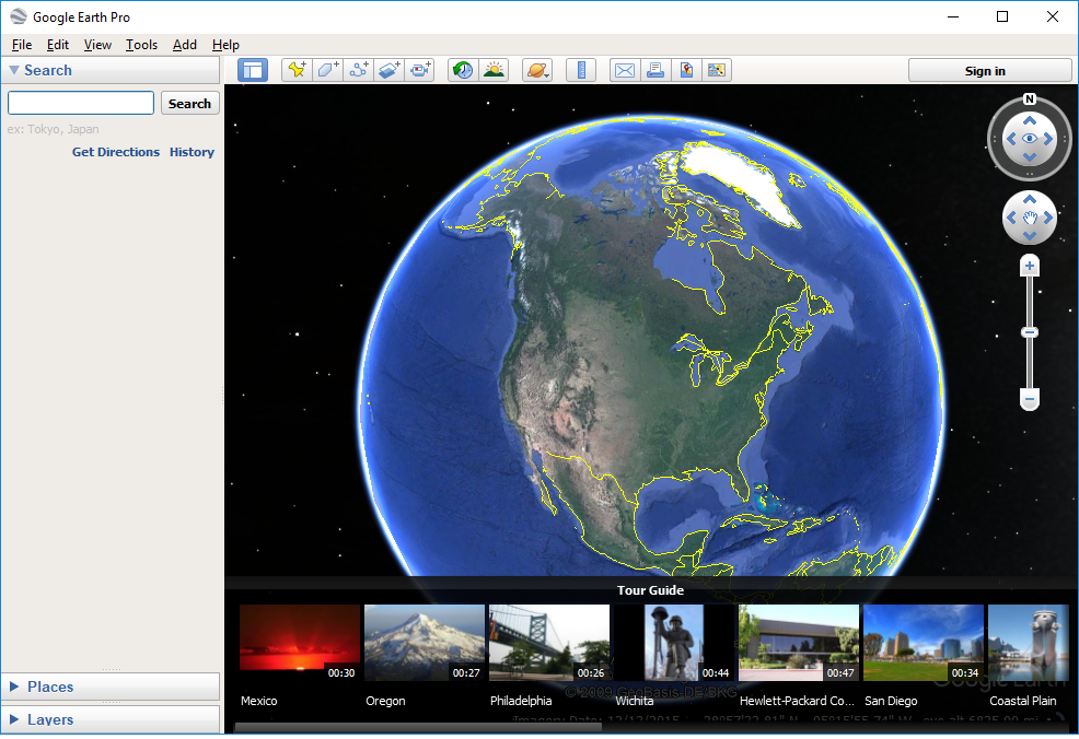 Google Earth Pro's screenshot