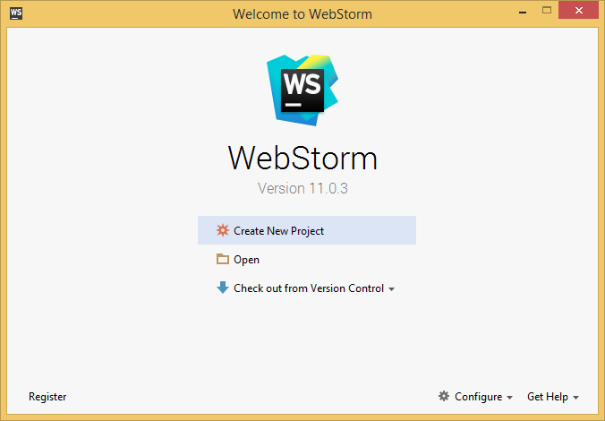Webstorm's screenshot