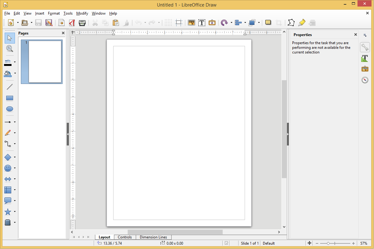 LibreOffice Draw's screenshot
