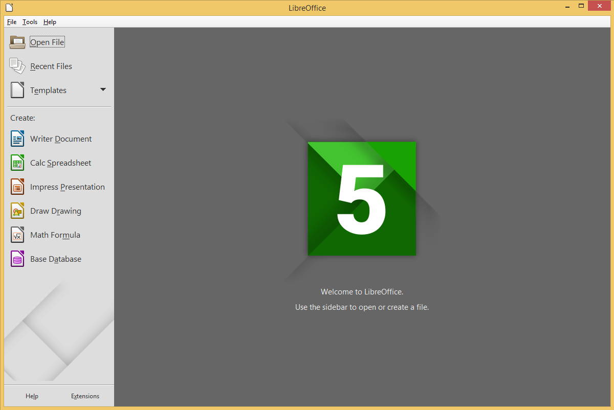 LibreOffice's screenshot