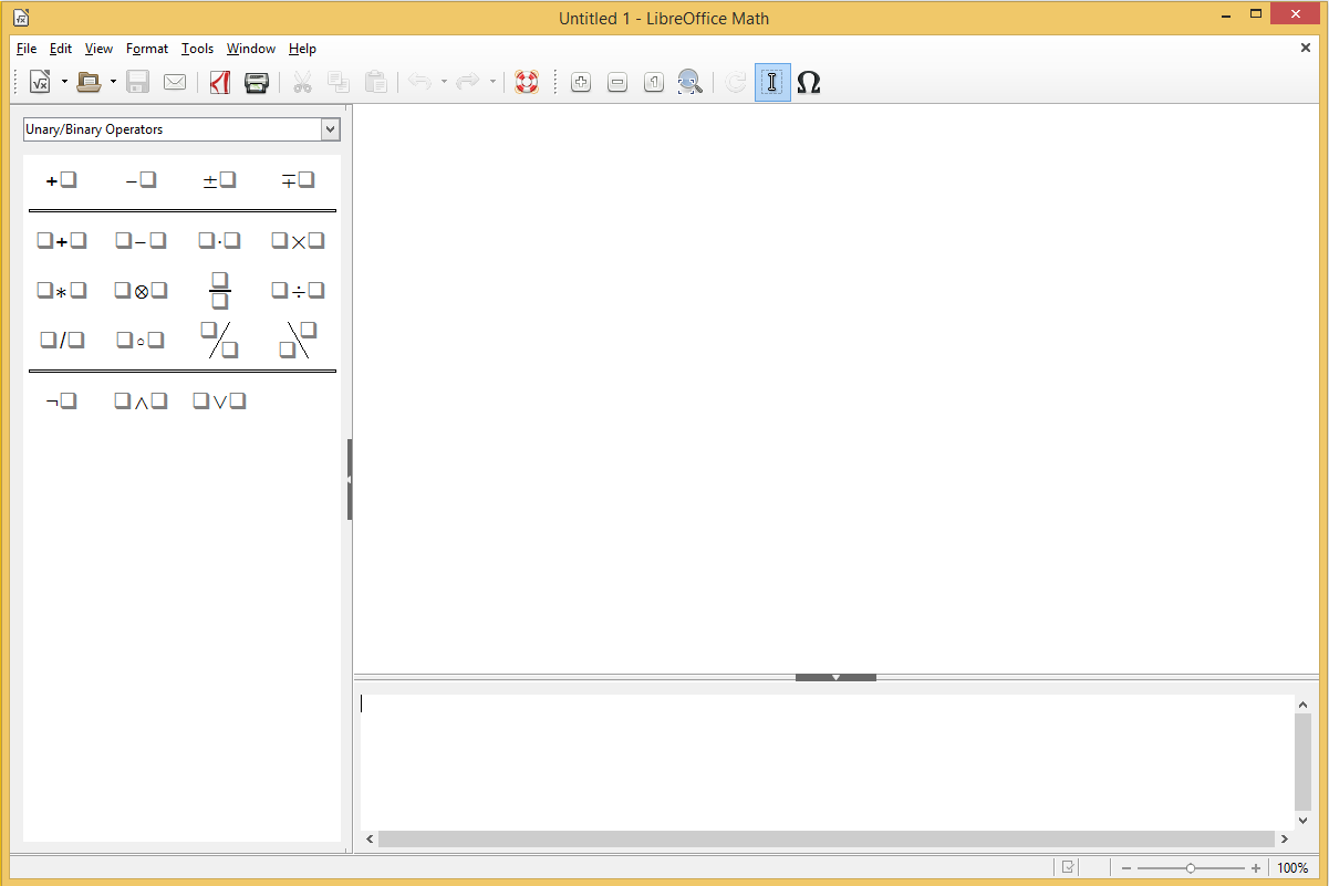 LibreOffice Math's screenshot