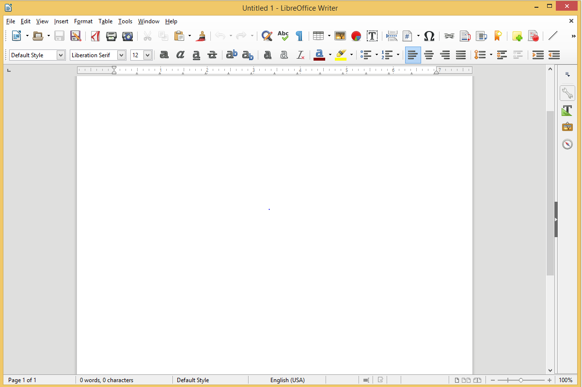 LibreOffice Writer's screenshot