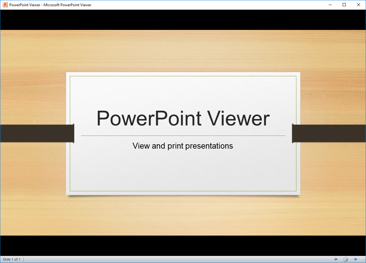 PowerPoint Viewer's screenshot
