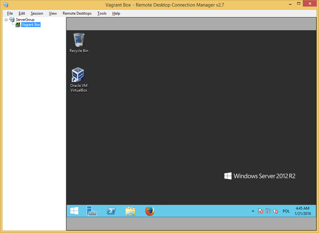 Remote Desktop Connection Manager's screenshot
