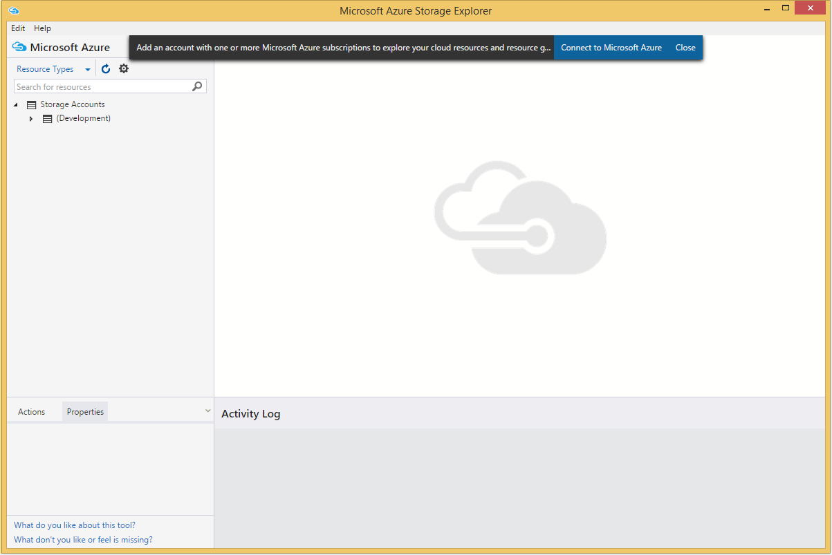 Azure Storage Explorer's screenshot