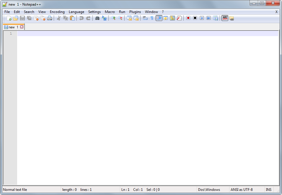 Notepad++'s screenshot