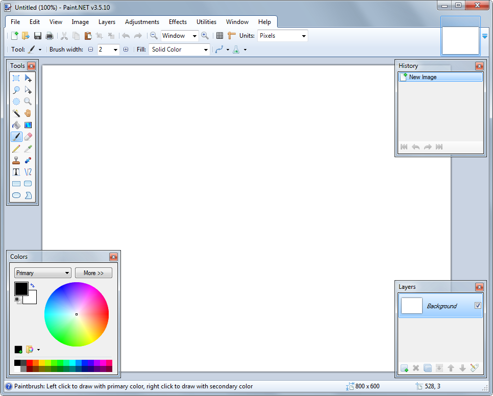 Paint.NET's screenshot
