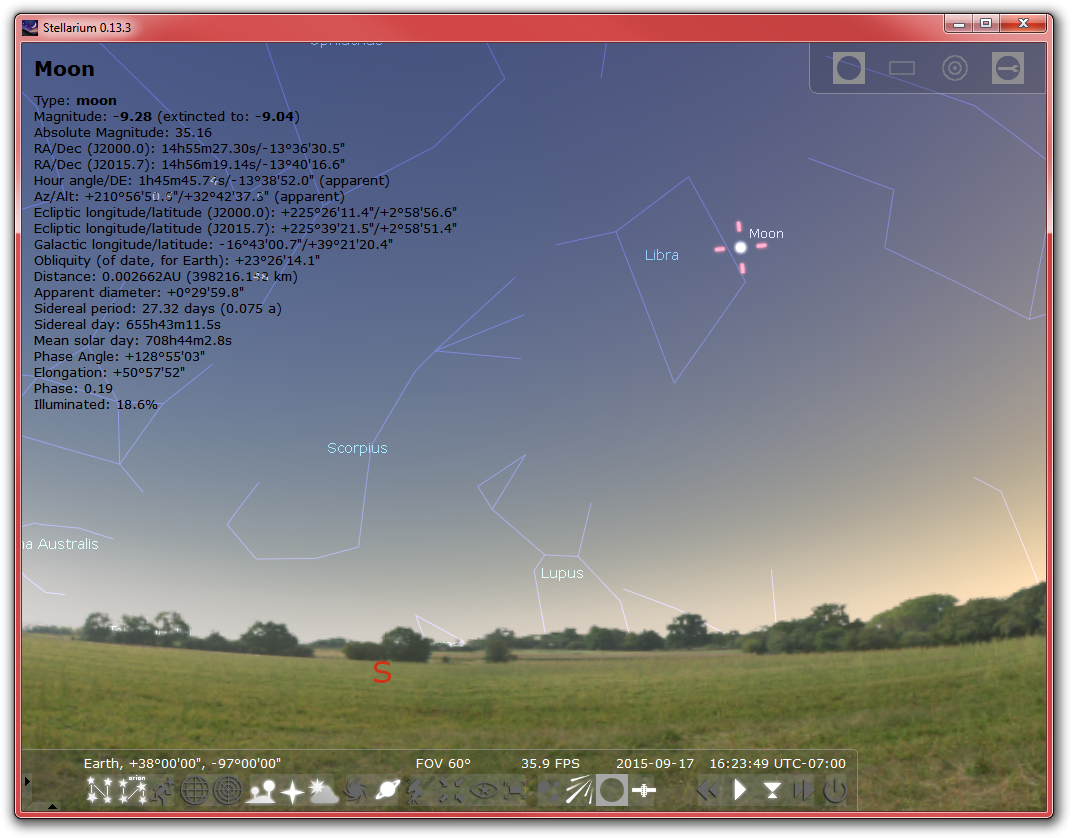 Stellarium's screenshot