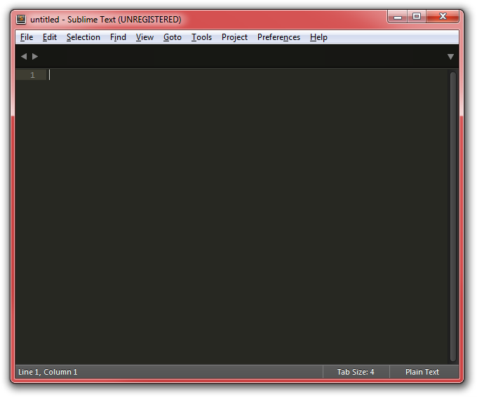Sublime Text's screenshot