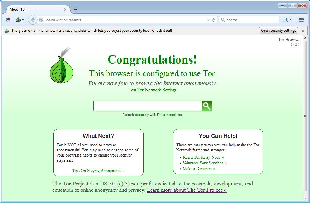 Tor Browser's screenshot